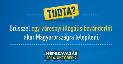 Quota referendum in Hungary: here are the newest billboards