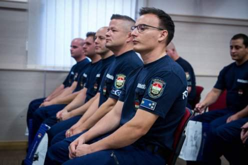 Hungarian police contingent returns home from Bulgaria