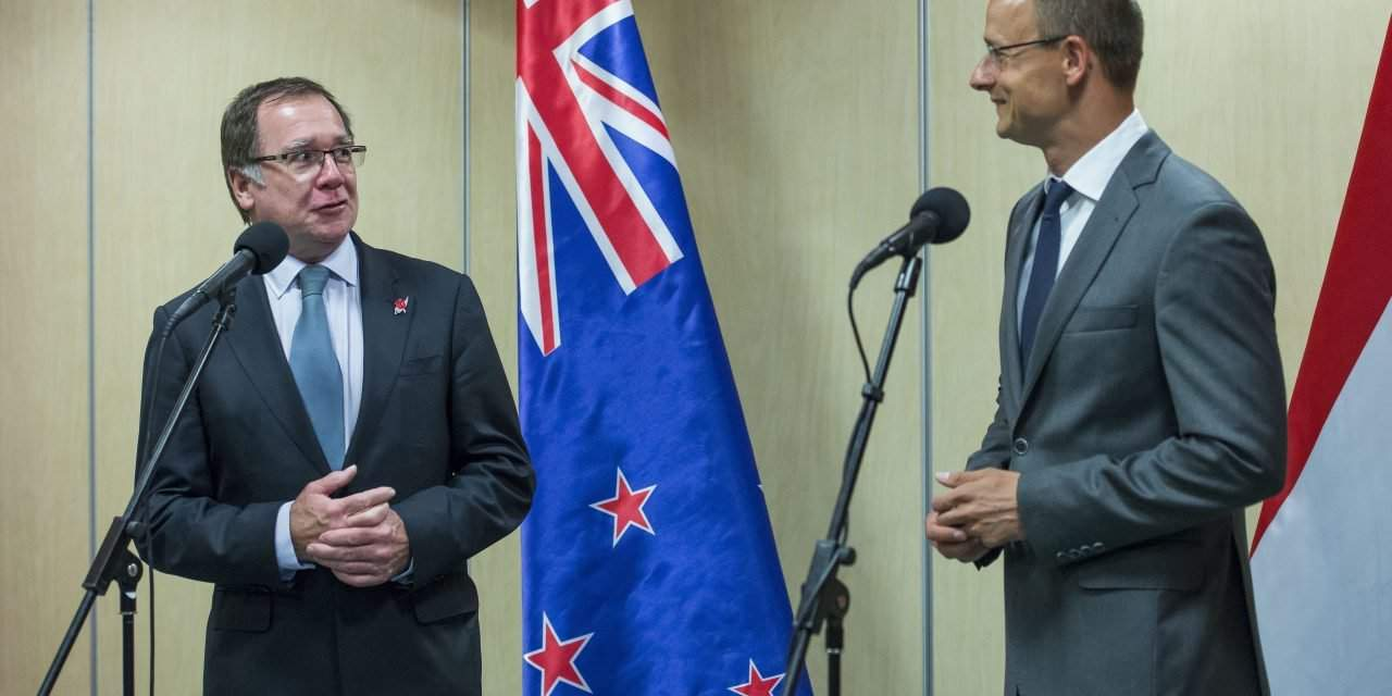 New Zealand's foreign minister hold talks in Hungary