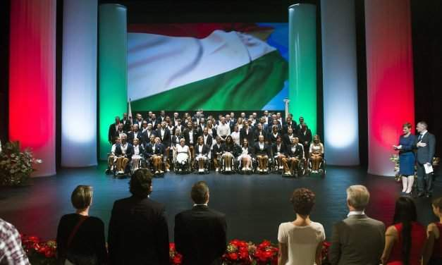 Hungary's Paralympics team takes oath for Rio2016