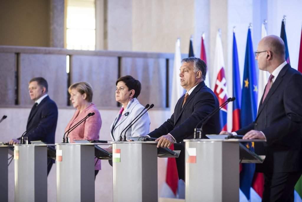 Orbán Viktor; FICO, Robert; MERKEL, Angela; SOBOTKA, Bohuslav; SZYDLO, Beata