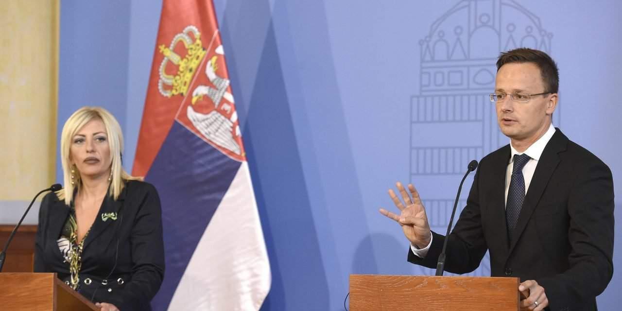 Hungarian foreign minister meet Serbian's EU integration minister