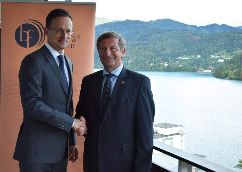 Hungarian and Slovenian foreign ministers
