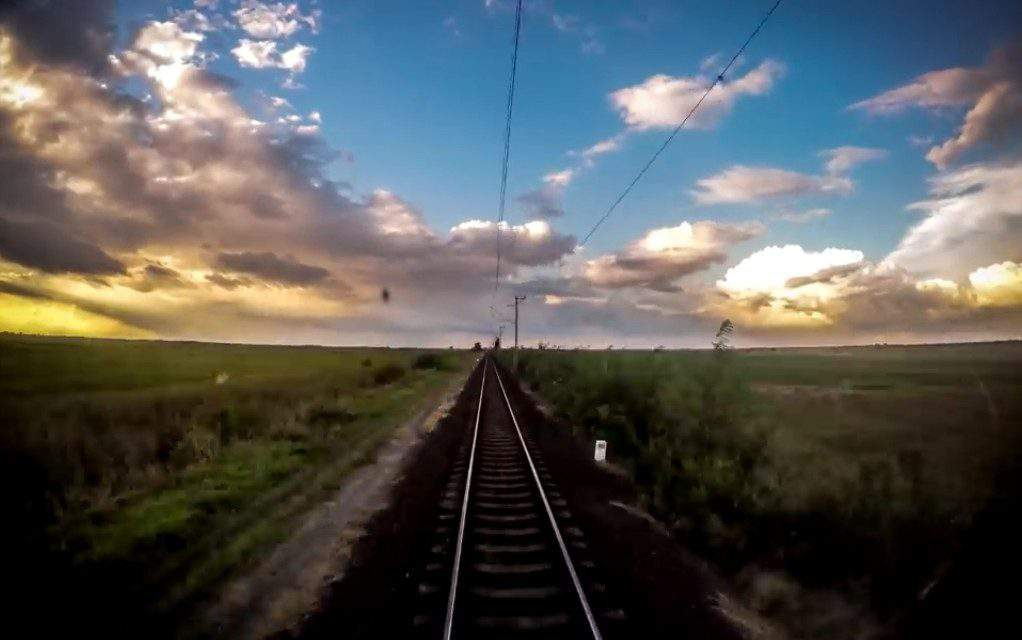 Spectacular time-lapse video of a train driver's view