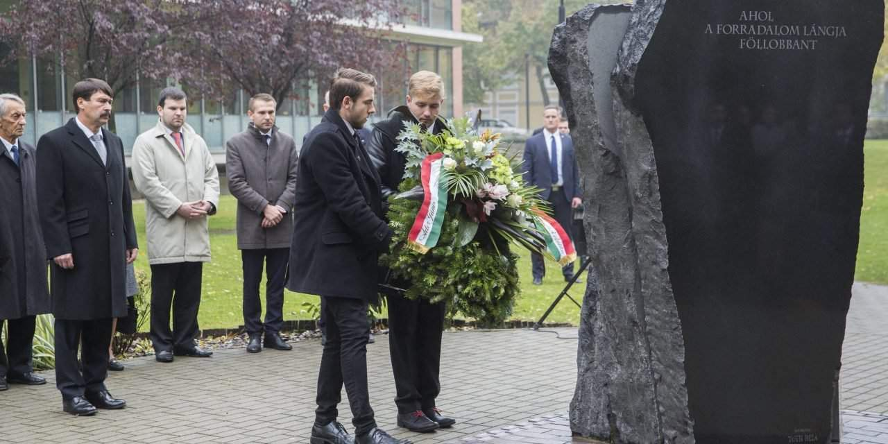 President Áder commemorates student heroes of 1956 in Szeged