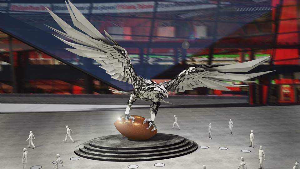 The world's biggest bird statue goes to NFL from Hungary