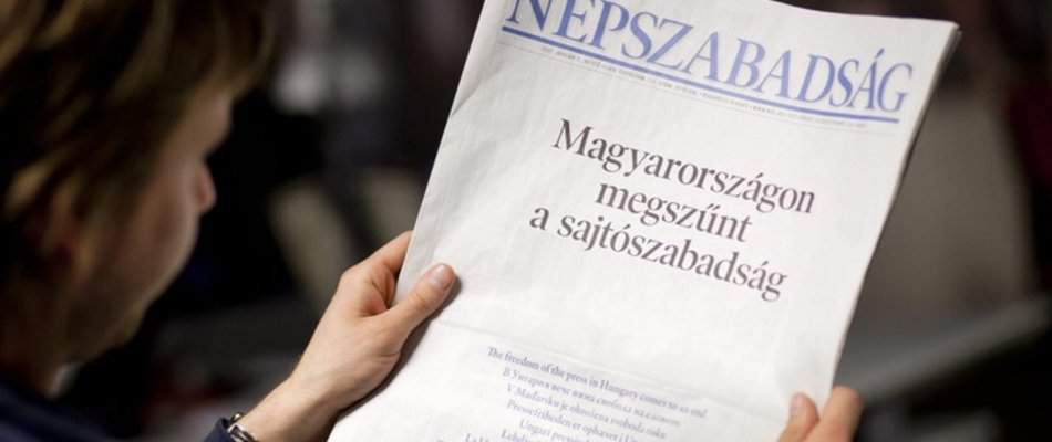 Publisher of daily Népszabadság suspends paper's operations
