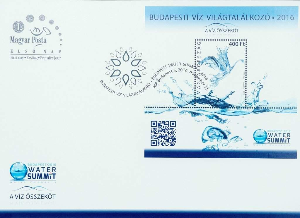 Custom stamp was unveiled to mark the upcoming Budapest Global Water Summit