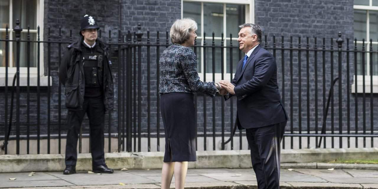 Orbán talks with British counterpart Theresa May in London