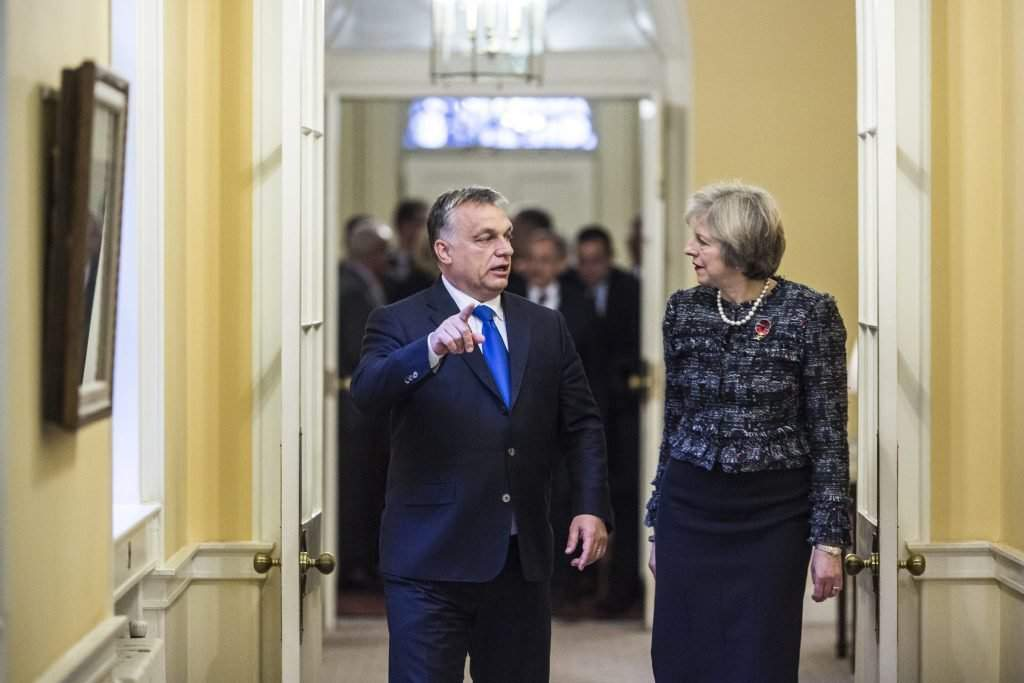Orbán Viktor; MAY, Theresa