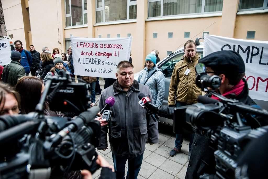 A Leader akciócsoportok megmaradásáért demonstráltak Budape