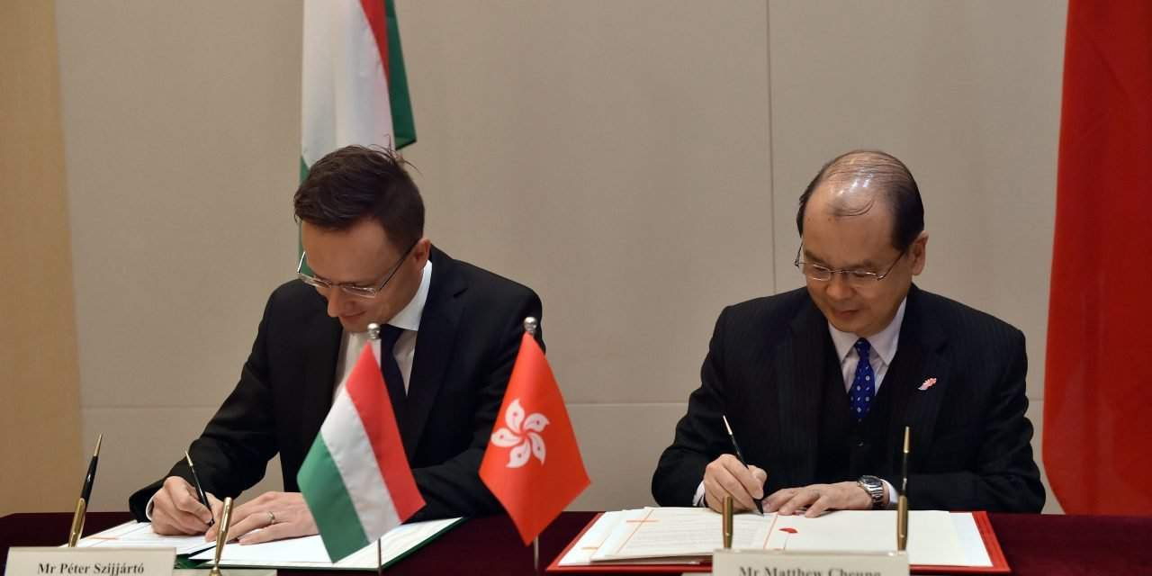 Hungarian foreign minister holds talks in Hong Kong