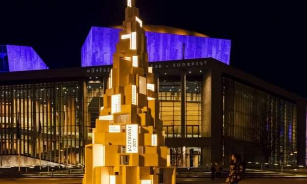 Check out Budapest's most unique Christmas tree in front of Müpa