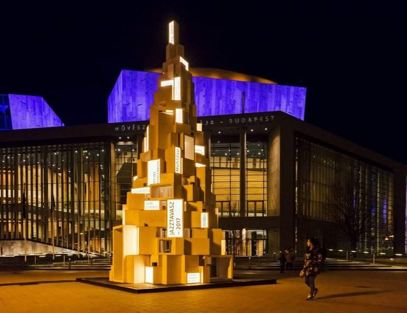 Check out budapests most unique christmas tree in front of müpa