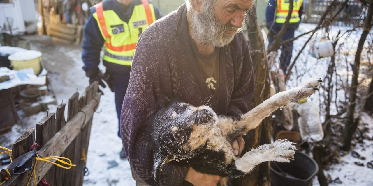 Hungarian police officers help the elderly to survive the unusually cold weather – PHOTOS