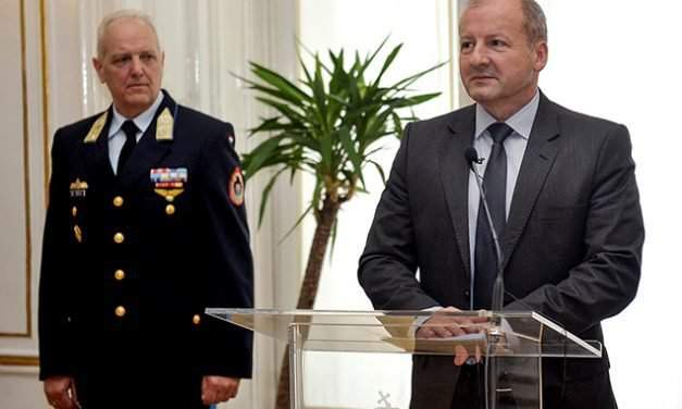 New Year's reception for military attachés to Budapest