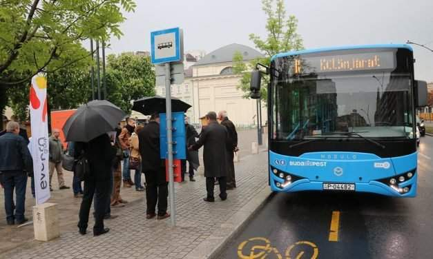 The new vehicles for Volánbusz are in the making