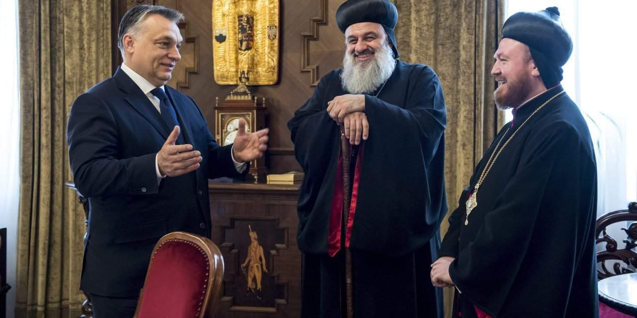 Hungarian prime minister meets Syrian patriarch