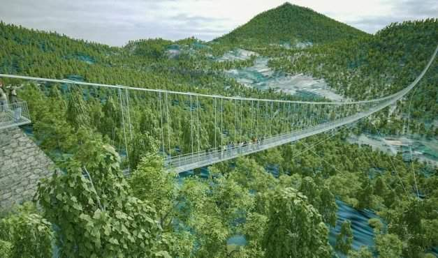 The world's largest glass bridge to be built in Hungary