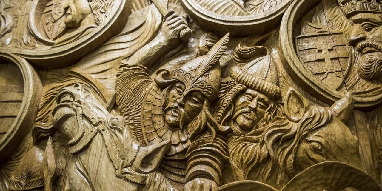 Monumental woodcarving depicting Hungarian history unveiled in Tata