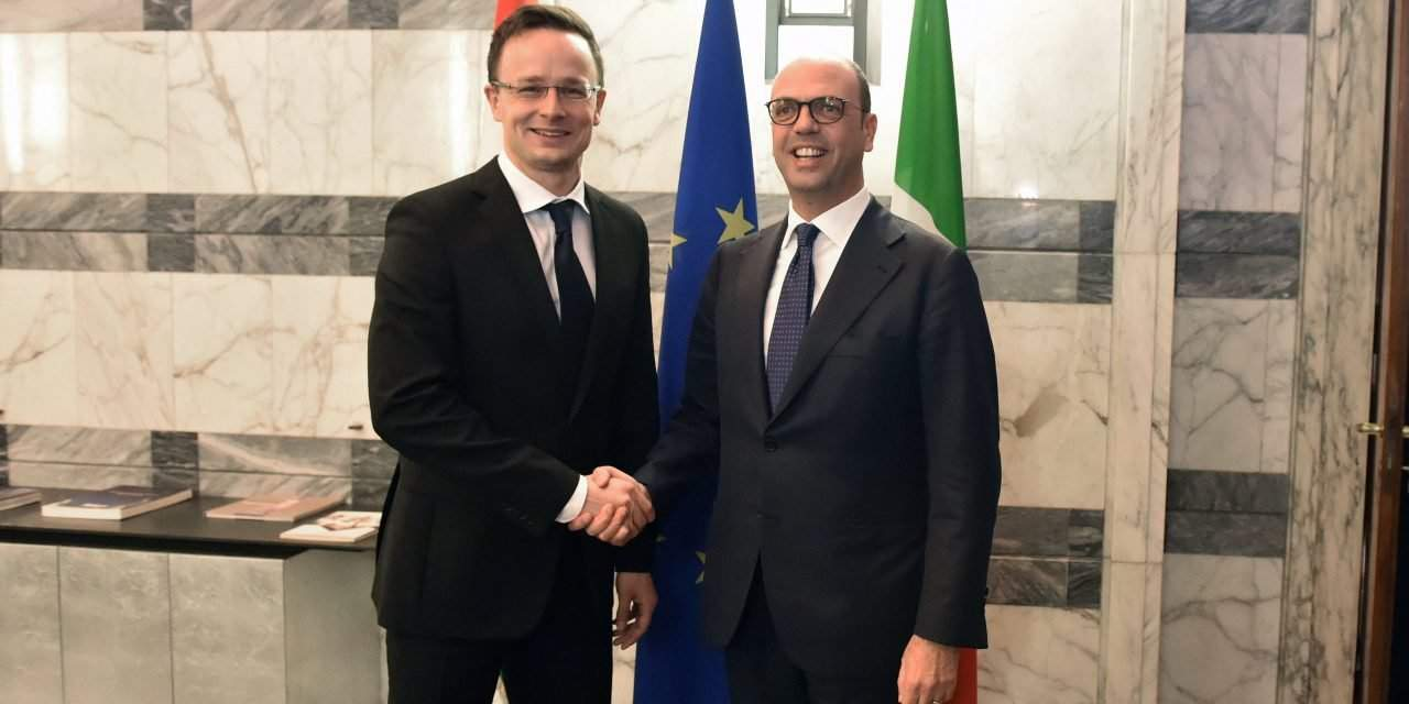 Hungary, Italy working together for international security, says Hungarian foreign minister in Rome
