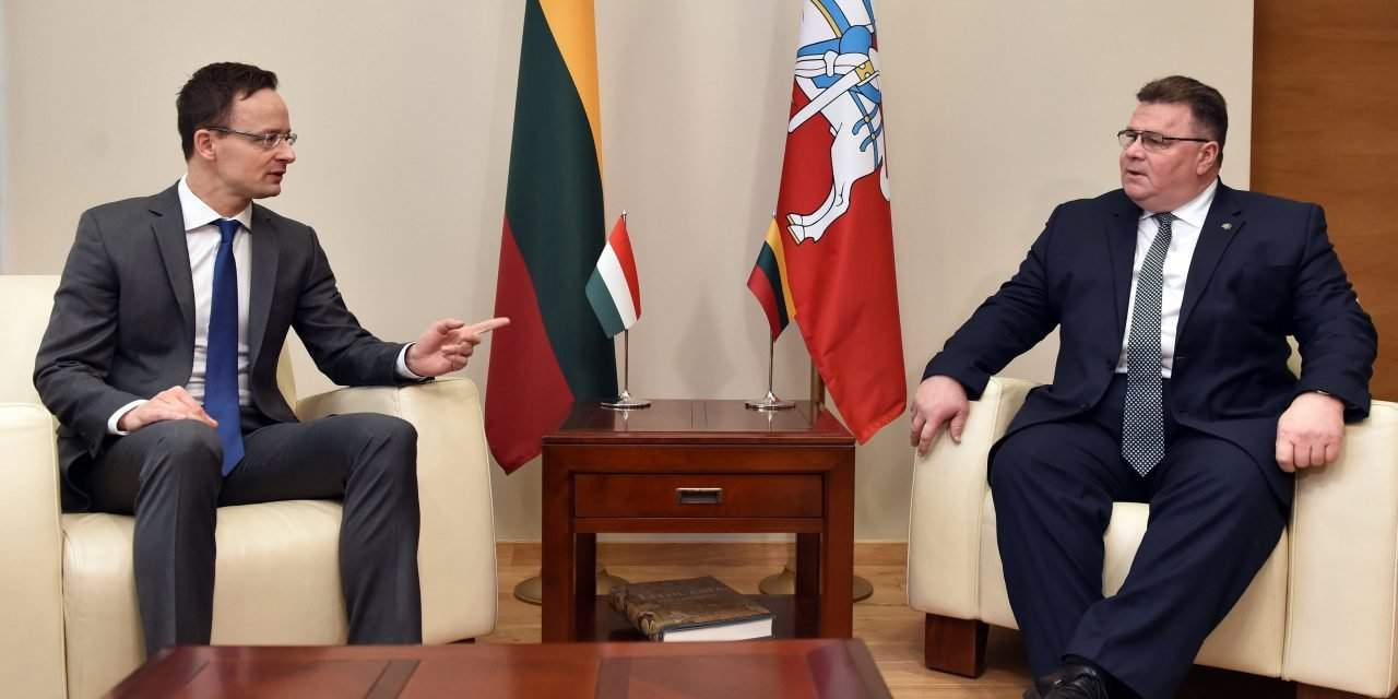 Hungarian foreign minister discusses migration, EU affairs in Lithuania