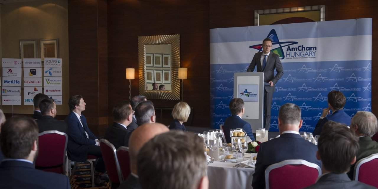 Hungary adapts to changing economic climate, says foreign minister at the AmCham event
