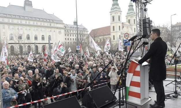 """March 15 – Jobbik: Hungary cannot be made subservient neither to """"foreign procurators"""" nor to """"domestic landlords"""""""