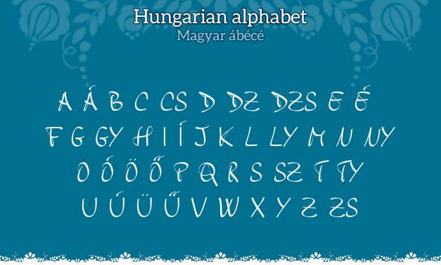Mini language lesson #4: The Hungarian alphabet