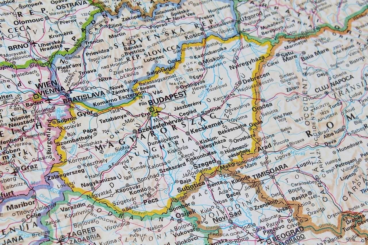 map hungary