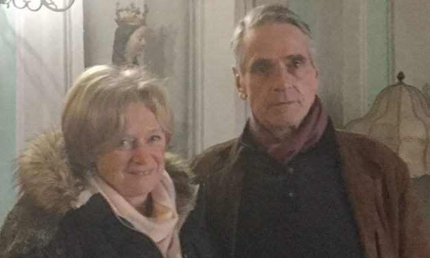 Jeremy Irons has arrived in Hungary