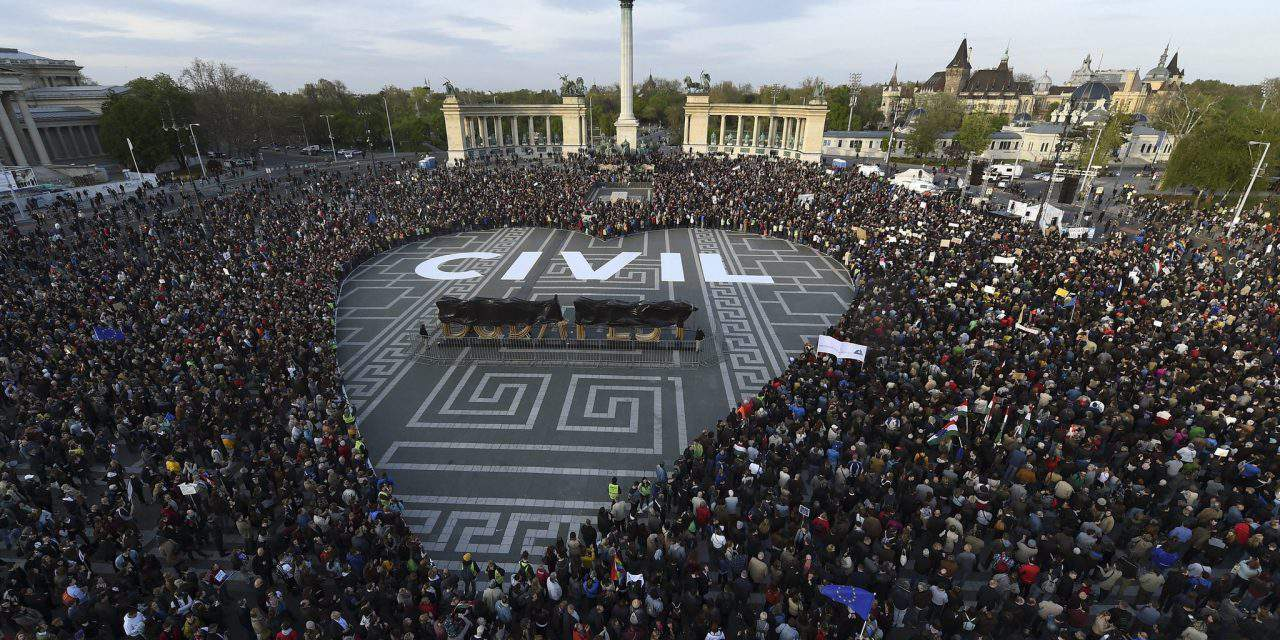 Civil groups stage protest against civil organisations bill in Heroes Square – PHOTOS – UPDATE