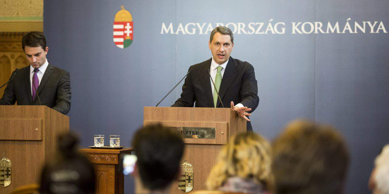 Hungarian government news briefing about Brussels, NGOs, education and other topics