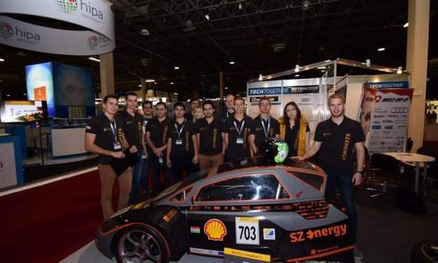 Hungarian university students build electric racing car