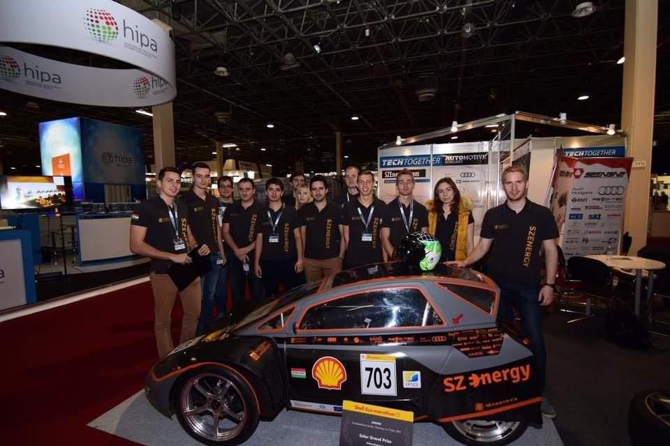 Hungarian university students build electric racing car