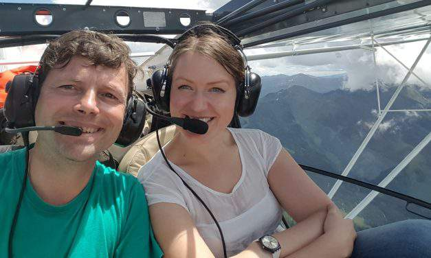 A Hungarian couple travels around the globe in a light aircraft