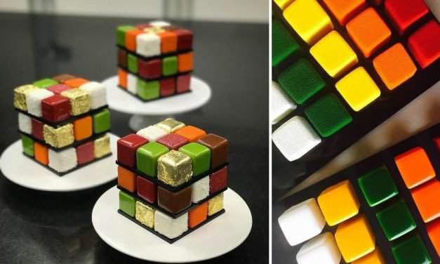 Variations on a puzzle: French pastry chef creates colourful Rubik's Cube cakes – PHOTOS