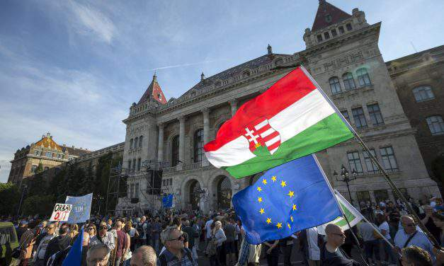 Anti-government groups stage protest in Budapest