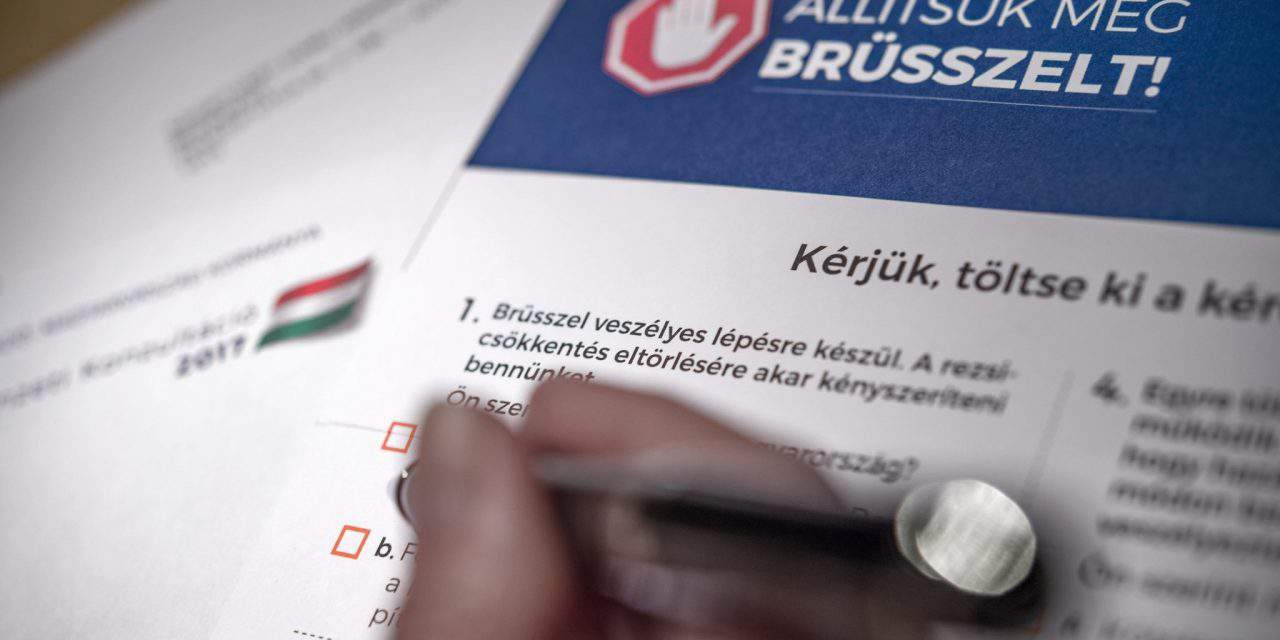 The National Consultation: some 600 thousand questionnaires had already been sent in