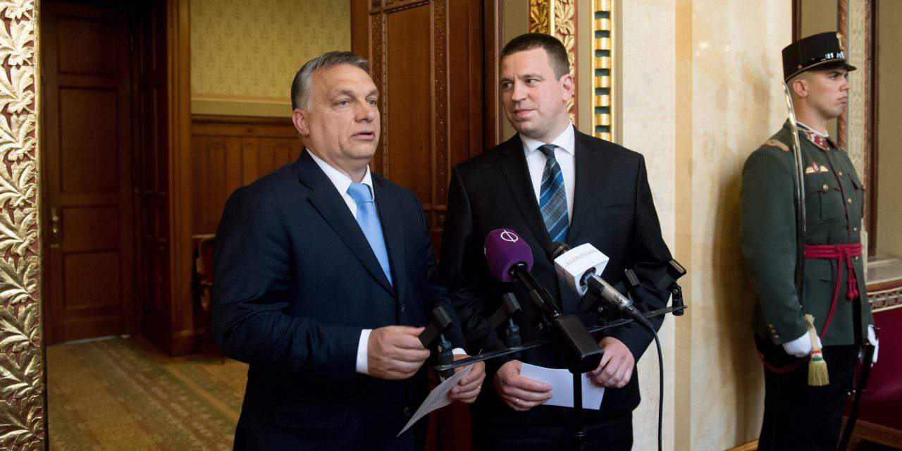 Estonian PM Juri Ratas held talks in Budapest