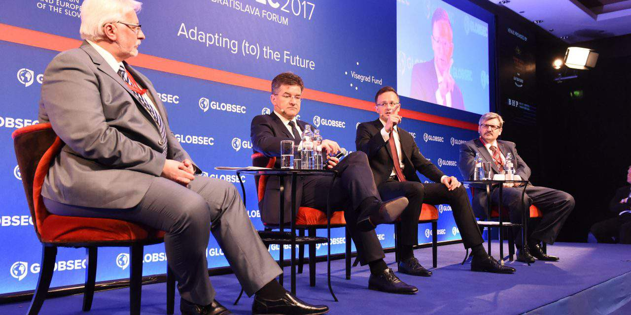 Hungarian foreign minister attended to Globsec Bratislava Global Security Forum
