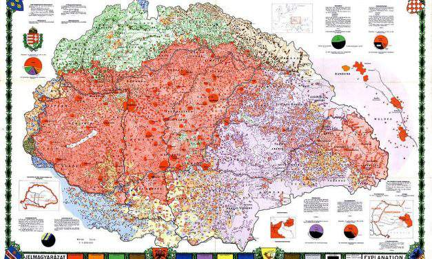 Browse Hungary's detailed ethnographic map made for the Treaty of Trianon online