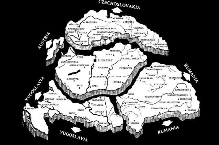 Hungary Trianon map