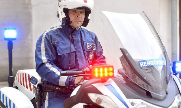A Hungarian newcomer won the police motorcyclist European championship