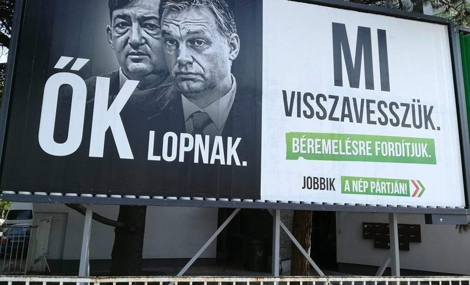 Here is the Jobbik's new media campaign: They steal, We take it back