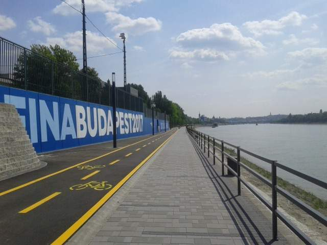 Embankment promenade leading to the Duna Arena is finished in Budapest