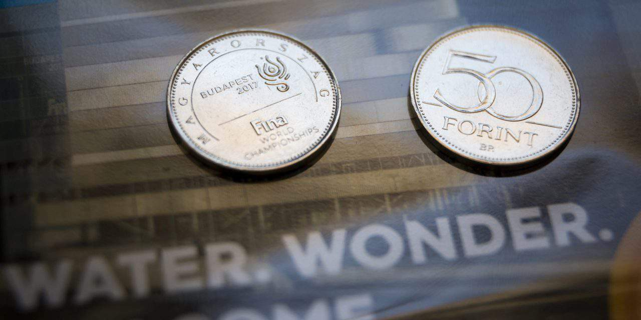 HUF 50 coin in honour of the FINA World Championships