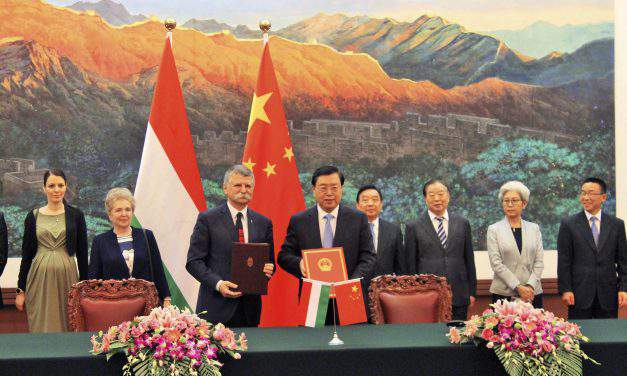 Hungarian house speaker signs cooperation pact with Chinese counterpart in Beijing