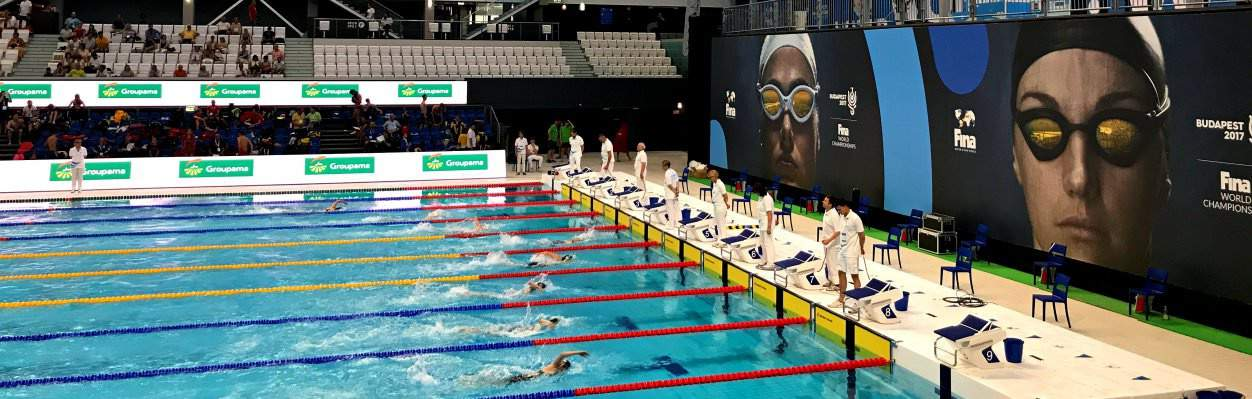 """Budapest Open: Swimming is finally on at the """"Duna Arena"""" in Budapest!"""