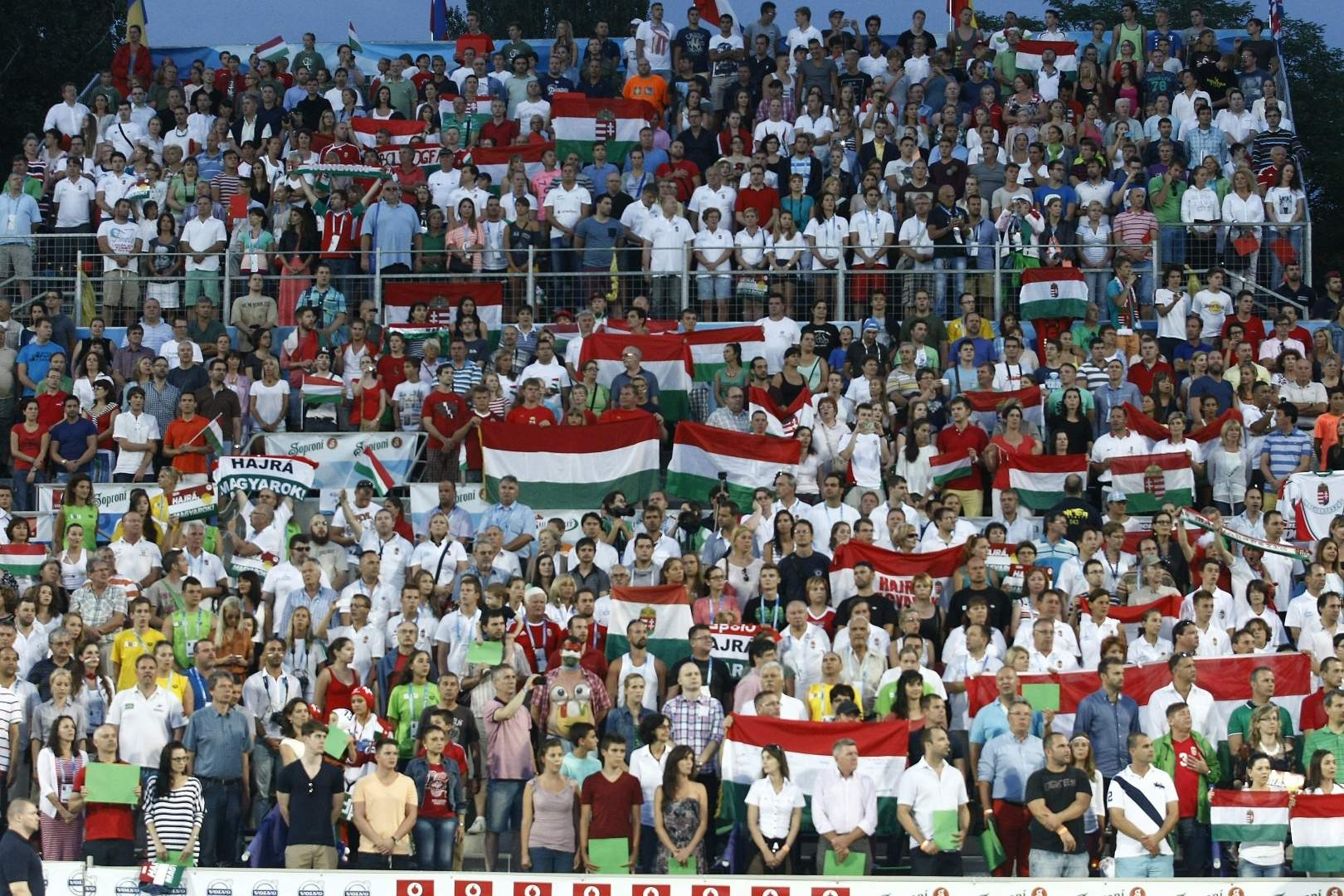 hungarians cheer fina water